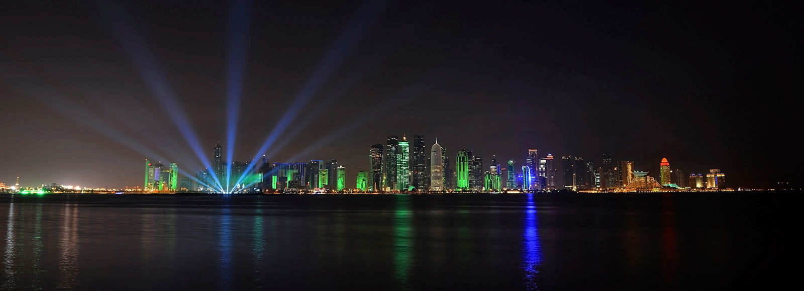 The Doha skyline at night