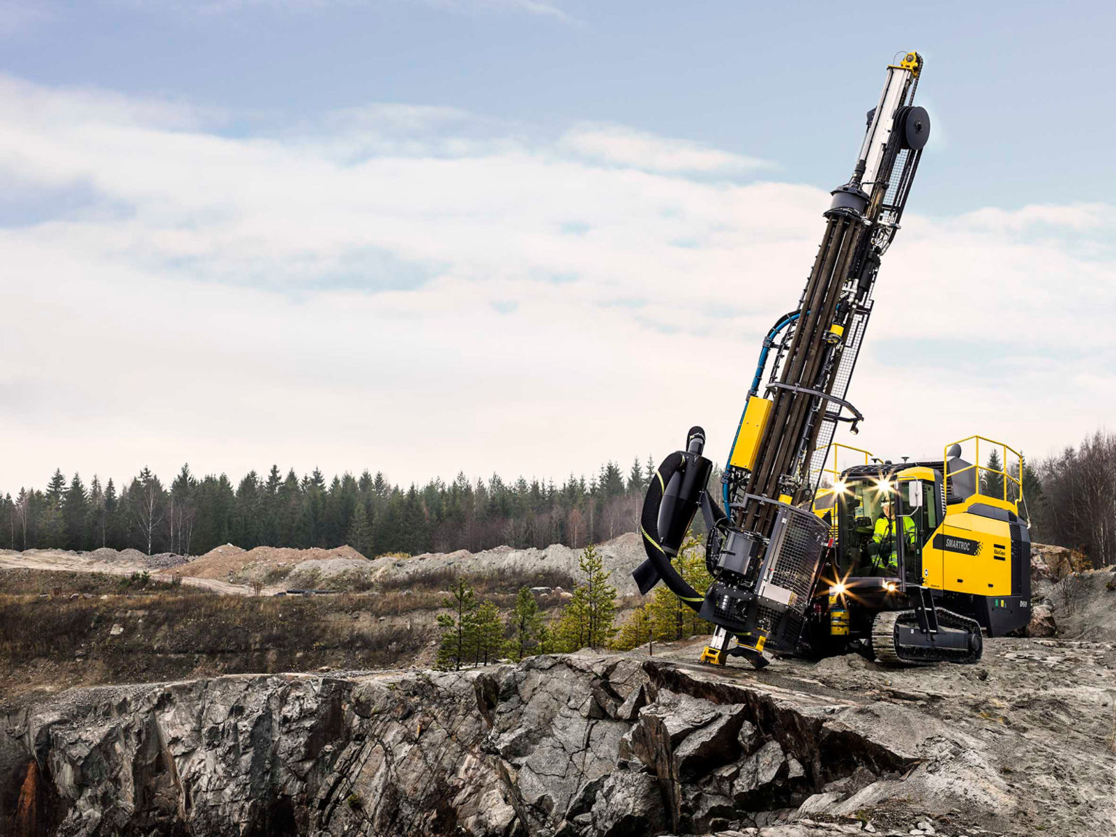 Atlas Copco is launching SmartROC D60, a surface drill rig for most types of surface drilling applications and tough conditions.