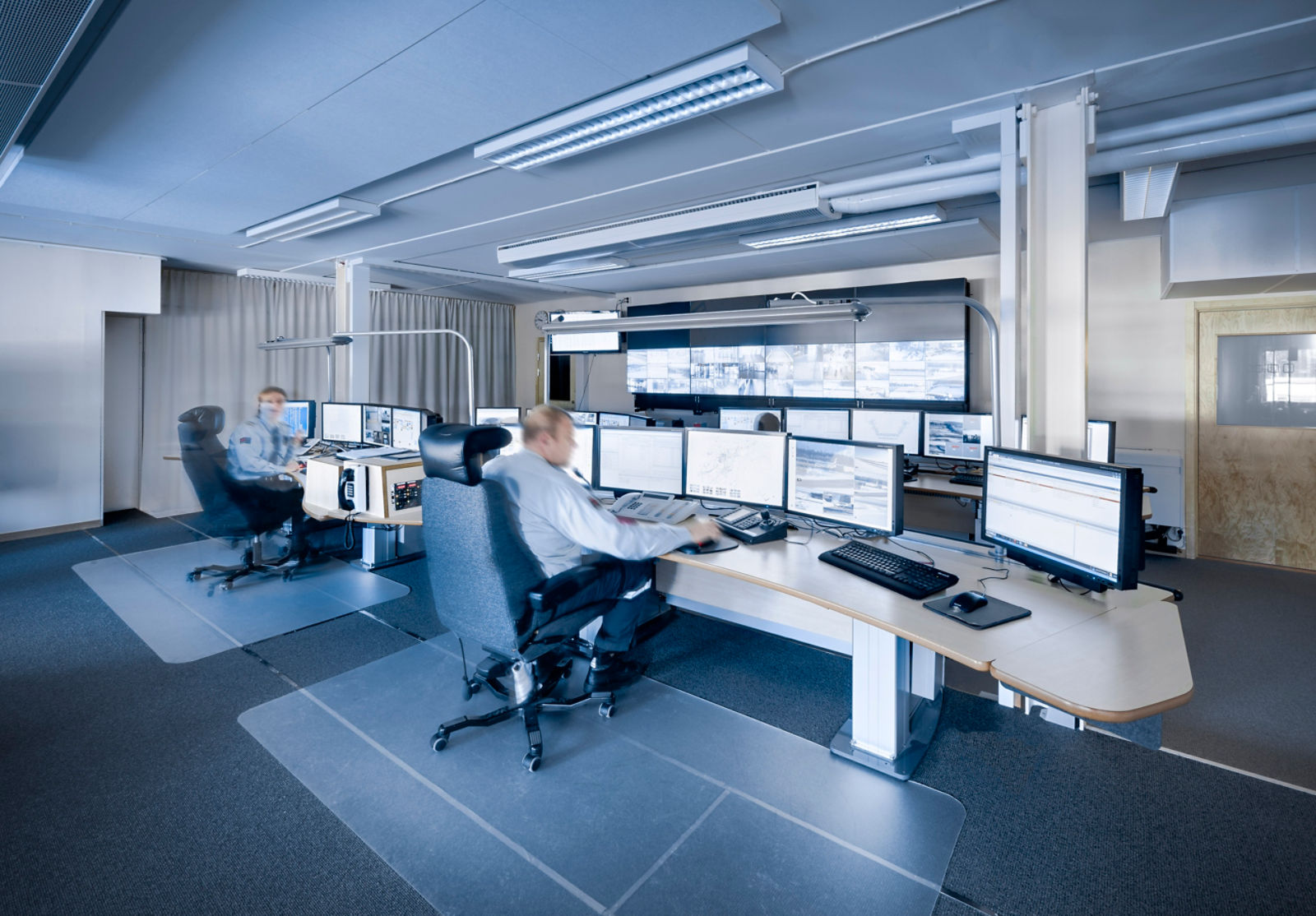 Saab airport security control room