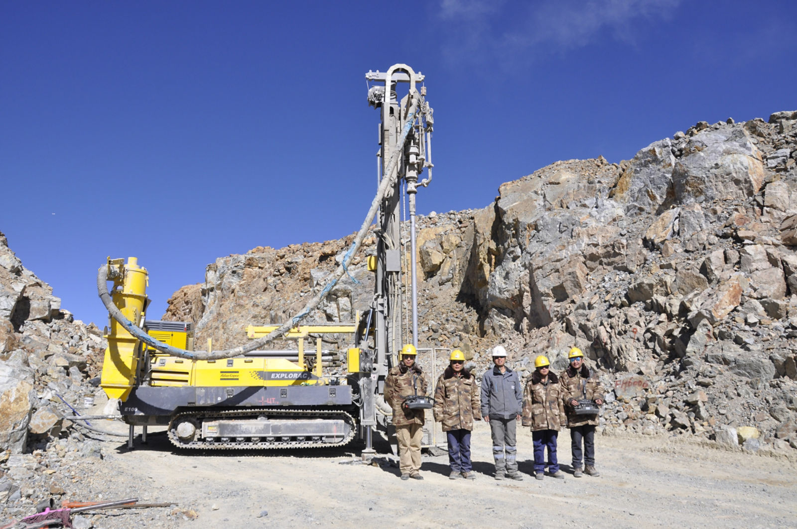 Explorac 100 reverse circulation drill rig